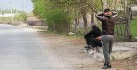Баткен облусунун Ак-Сай айылынын тургундары. Архив
