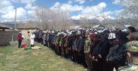Похороны Нурсултана Манасбек уулу, погибшего при конфликте на границе с Таджикистаном