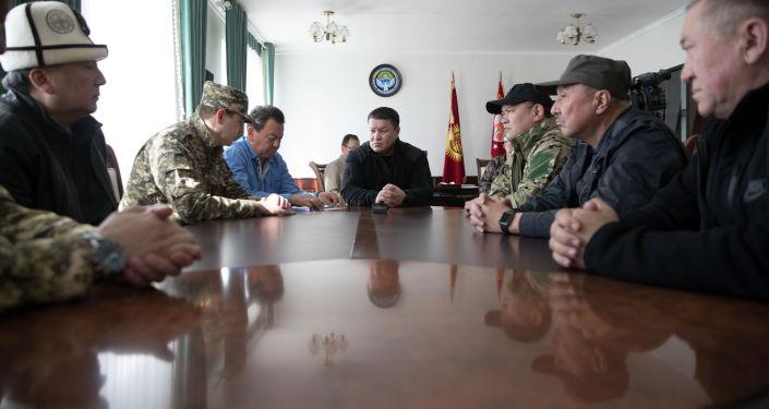 Группа депутатов Жогорку Кенеша Кыргызской Республики во главе с Торага Талантом Мамытовым прибыла в Баткенскую область.