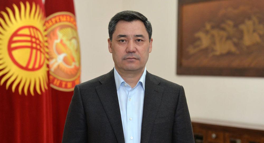 Президент Садыр Жапаров во время обращения в связи со стабилизацией ситуации на кыргызско-таджикской границе