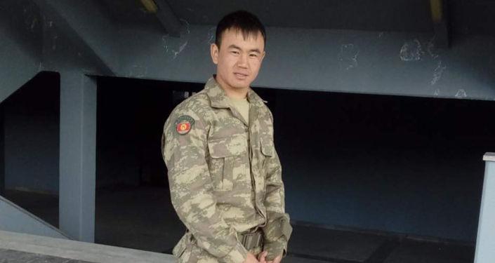 29-летний офицер Нурсултан Манасбек уулу, погибший в ходе конфликта на кыргызско-таджикской границе в Баткене