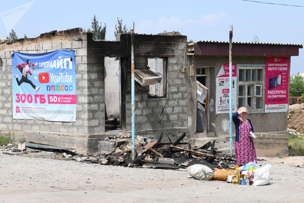 Лейлек районунун айылдарынын биринде талкаланган дүкөн