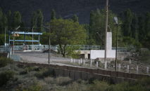 Водораздел Головной на кыргызско-таджикской границе в селе Ак-Сай Баткенского района
