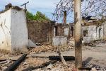 Лейлек районунун Арка айылындагы талкаланган үйлөр
