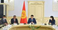 Министрлер кабинетинин төрагасы Улукбек Марипов алгачкы кеңешме учурунда