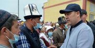 Президент КР Садыр Жапаров в рамках рабочей поездки в Баткенскую область. Архивное фото