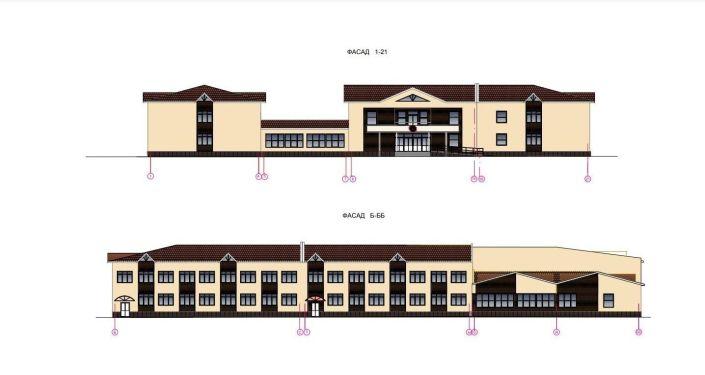 Эскизы новой школы в жилмассиве Ак-Босого в Бишкеке