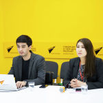 Журналисты Sputnik Бегимай Бакашева и Алимджан Валиев