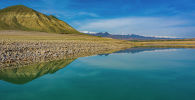 Вид с дрона на Токтогульское водохранилище