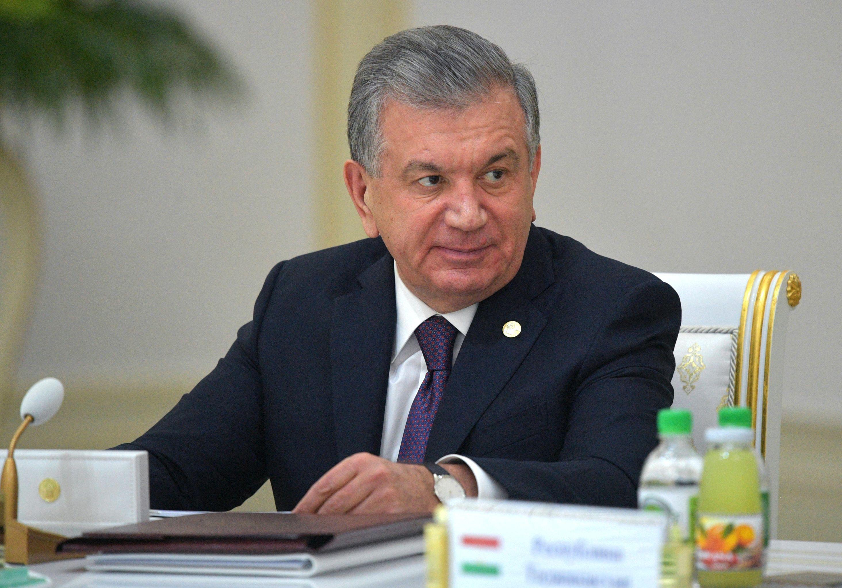 Президент Узбекистана Шавкат Мирзиеев на заседании Совета глав государств Содружества Независимых Государств (СНГ). 11 октября 2019 года