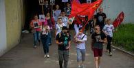 Бишкекте Өлбөс полктун чакан жүрүшү