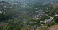 Вид на село Максат Лейлекского района Баткенской области