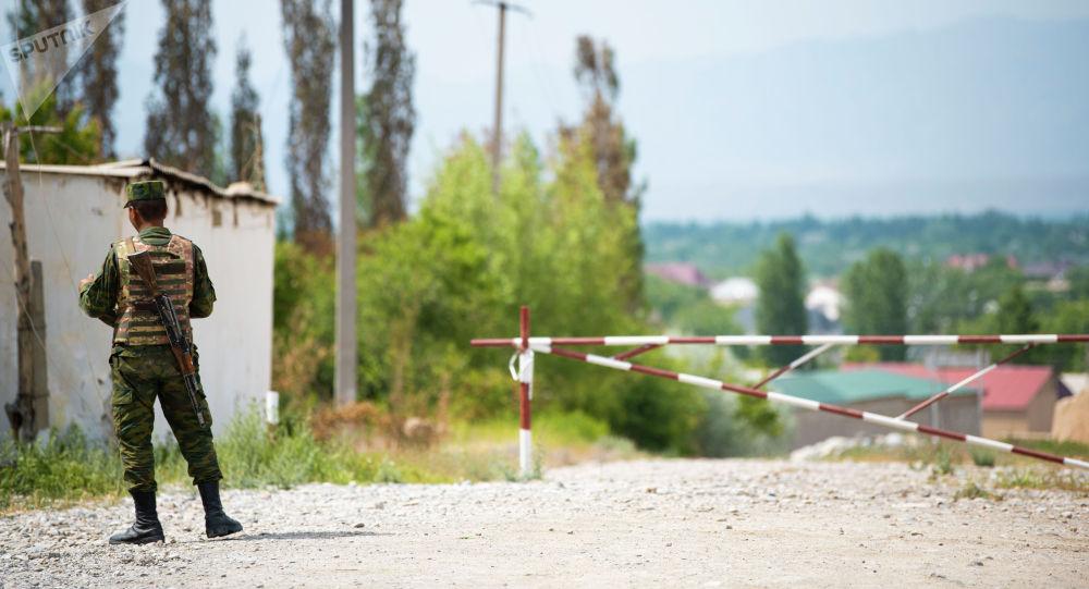 Лейлекского районундагы кыргызстандык аскер кызматкери
