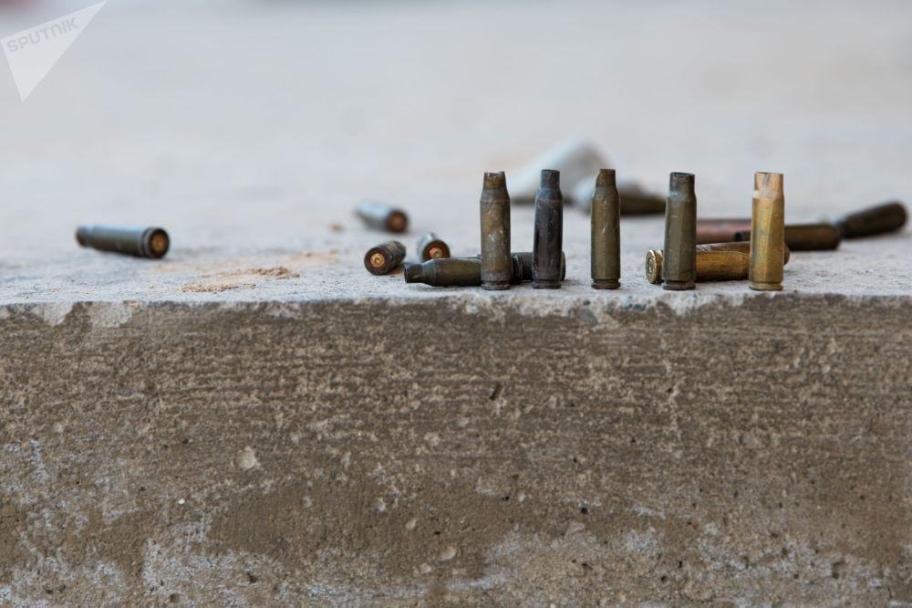 Гильзы обнаруженные в одном из сел Лейлекского района, после приграничного конфликта между Кыргызстаном и Таджикистаном