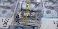Сом жана доллар купюралары. Иллюстративдик сүрөт