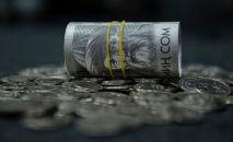 Сом купюралары жана монеталары. Иллюстративдик сүрөт