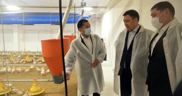 Президент КР Садыр Жапаров принял участие в запуске крупной птицефермы Агро-Куш в селе Сары-Камыш Иссык-Кульского района. 14 мая 2021 года