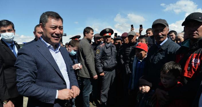 Президент Кыргызстана Садыр Жапаров принял участие в запуске крупнейшего в Кыргызстане мясокомбината в Караколе