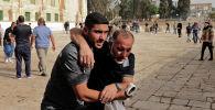 Палестиналыктар Иерусалимдеги Акса мечитинде Израилдин коопсуздук күчтөрү менен кагылыш учурунда