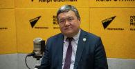 Ректор Международного университета инновационных технологий, президент Международной ассоциации экспертов по сейсмостойкому строительству Улугбек Бегалиев на радио Sputnik Кыргызстан
