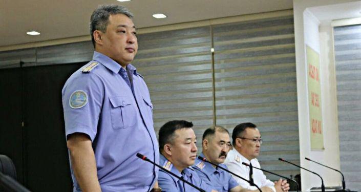 Начальник ГУВД Бишкека, полковник милиции Азамат Ногойбаев