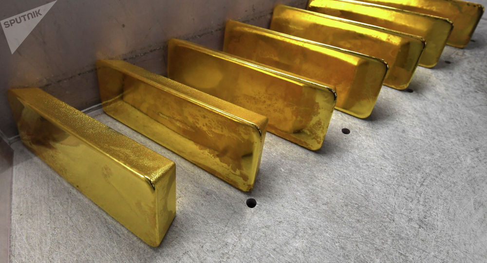 Золотые слитки высшей пробы. Архивное фото