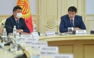 Председатель Кабинета Министров Улукбек Марипов во время заседания. Архивное фото