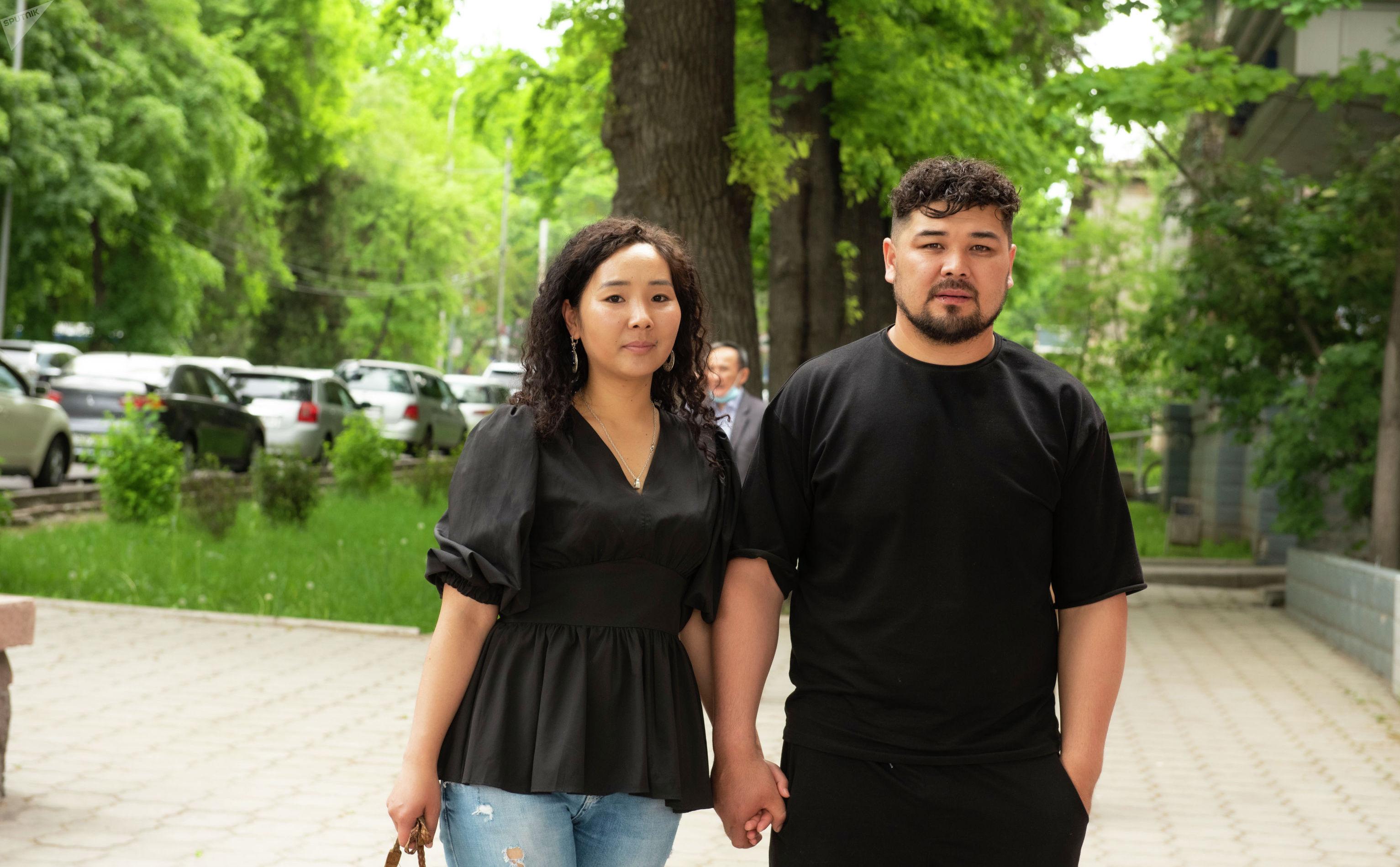 Супруги актер Актер Эржан Осмонов и актриса Махабат Асанбекова