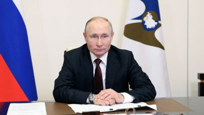 Президент РФ Владимир Путин принимает участие в заседании Высшего Евразийского экономического совета