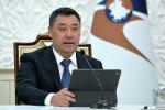 Президент КР Садыр Жапаров на очередном заседании Высшего Евразийского экономического совета