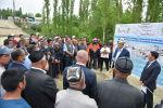 Председатель Кабинета Министров Кыргызской Республики Улукбек Марипов во время встречи с жителями города Ноокат Ошской области