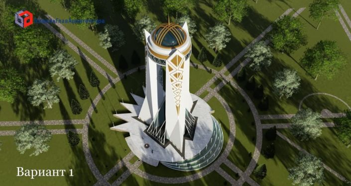 Муниципальное предприятие Бишкекглавархитектура представила эскизы Бишкек-тауэра — главной башни столицы