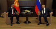 24-майда президент Садыр Жапаров Россияга жасаган сапарында Сочи шаарында мамлекет башчы Владимир Путин жолукту.