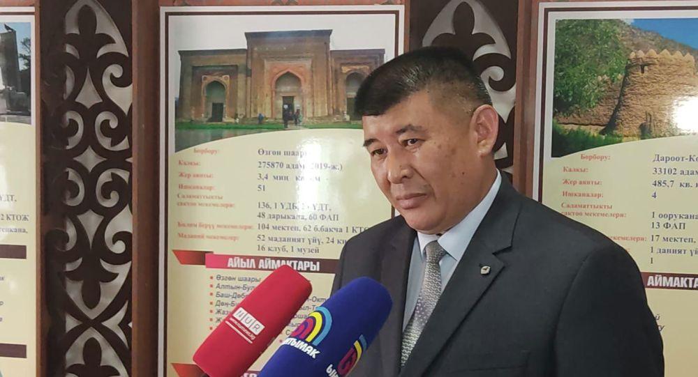 Недавно назначенный акимом Кара-Сууйского района Ошской области Турусбек Ногоев