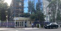 В Бишкеке идет ремонт здания МВД, расположенного на пересечении улиц Фрунзе и Тыныстанова