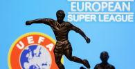 Европалык футболдук ассоциациялар союзунун (UEFA) логотиби. Архив