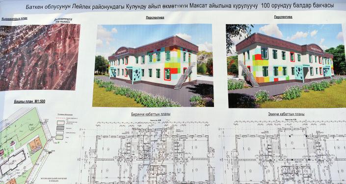 Эскизы детского сада, который построят в селе Максат Баткенской области