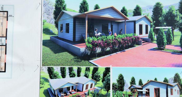 Эскизы домов, которые построят в селе Максат Баткенской области