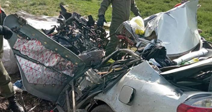 На месте ДТП в Суусамырской долине с гибелью пятерых человек
