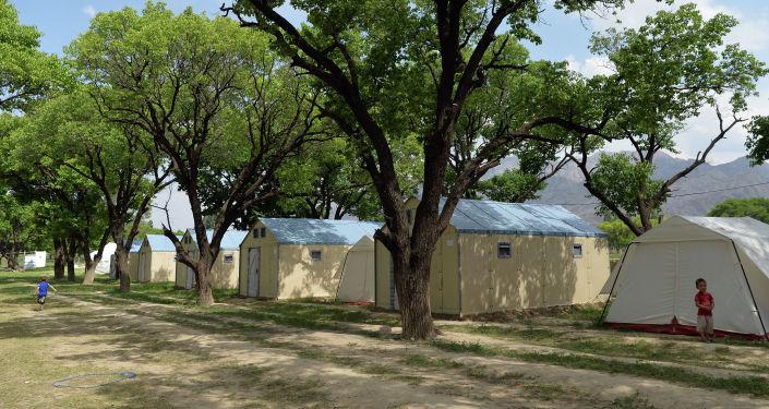 Пункт временного пребывания пострадавшихвовремя конфликта накыргызско-таджикской границе