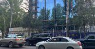 Ремонт здания МВД, расположенного на пересечении улиц Фрунзе и Тыныстанова