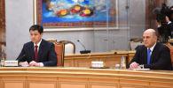 Кыргызстандын министрлер кабинетинин төрагасы Улукбек Марипов Россиянын премьер-министри Михаил Мишустин менен