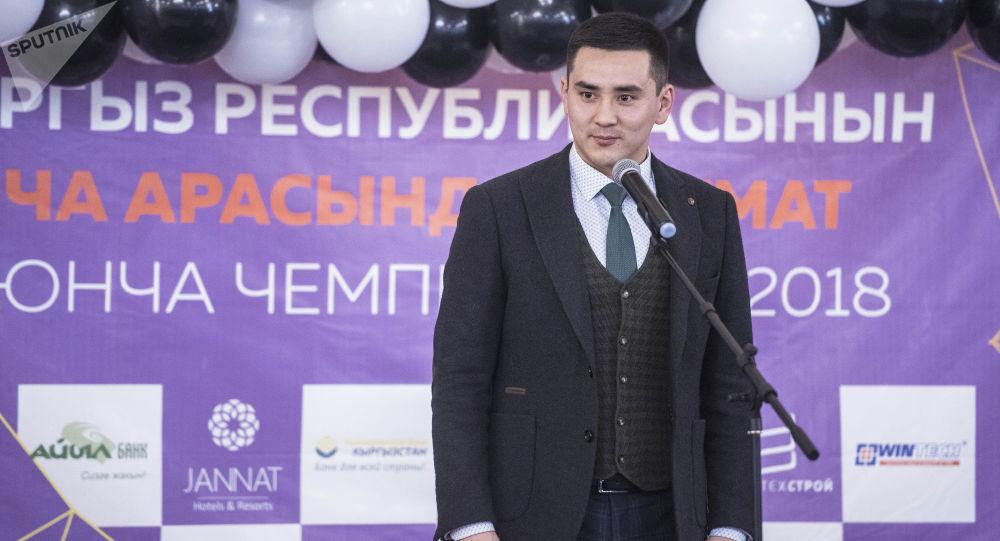 Бишкек шаардык кеңешинин төрагасы Жаныбек Абиров. Архив
