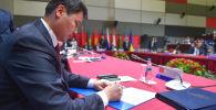 Кыргызстан министрлер кабинетинин төрагасы Улукбек Марипов КМШ өкмөт башчыларынын кеңешинде