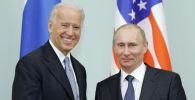 Президент РФ Владимир Путин и президент США Джо Байден. Архивное фото