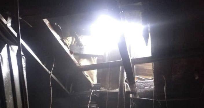Пожар в кафе Центр плова в Бишкеке. 30 мая 2021 года