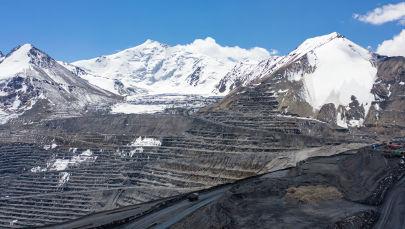 Ледник Давыдов на месторождении Кумтор в Иссык-Кульской области. Архивное фото