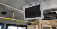 В троллейбусах Бишкека появились информационные мониторы