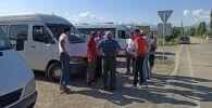 Водители маршрутных такси во время забастовок в Бишкеке