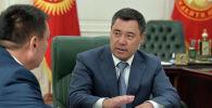 Президент Кыргызской Республики Садыр Жапаров принял мэра г. Ош Таалайбека Сарыбашова. 02 июня 2021 года